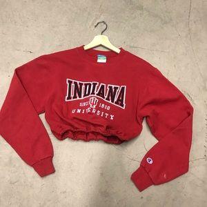 Indiana Hoosiers drawstring crop sweatshirt
